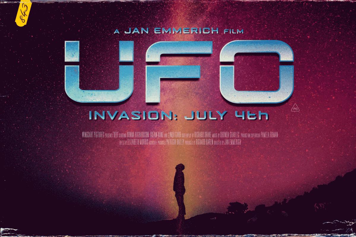 UFO Summer Block-Buster Movie Poster Design