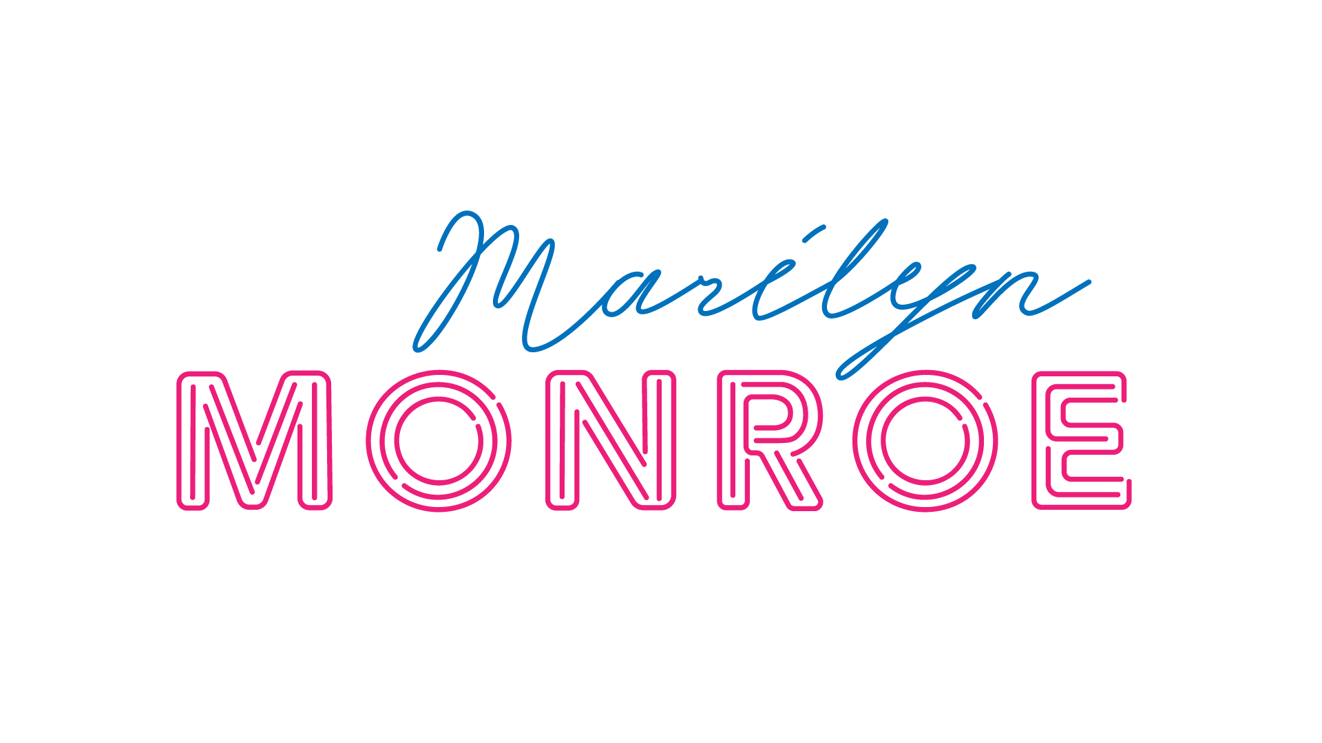 Marilyn Monroe Neon Text and Font designs
