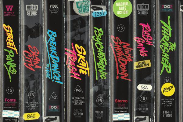1980s VHS Cover Art Fonts