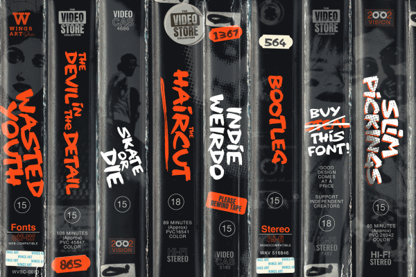 Fonts from a VHS age by Wingsart Studio - Free Download