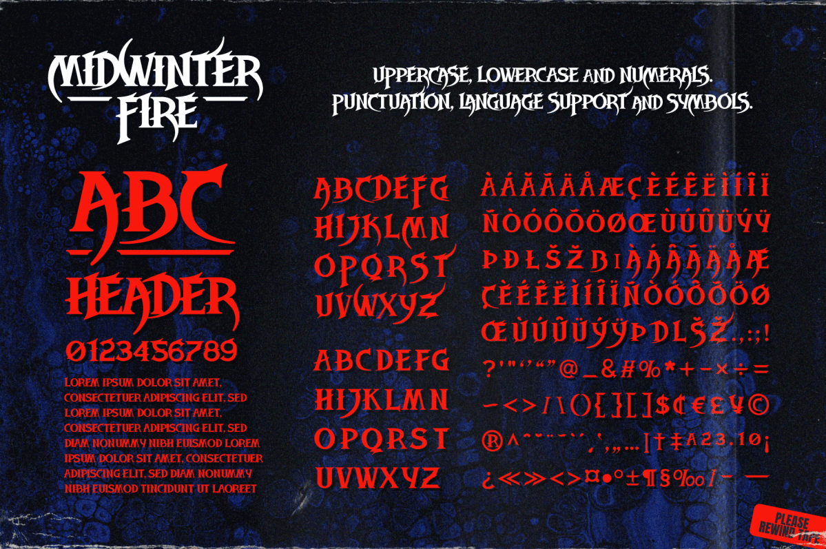 Decorative Gothic Style Fonts