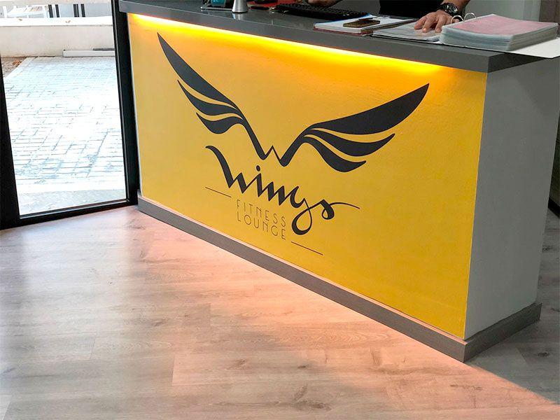 Mostrador Recepción - Gimnasio Wings Fitness Valterna