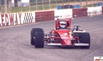 Rod Rothgarn brings his supermodified around turn three at New Paris Speedway
