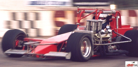 Rod Rothgarn gets up to speed in his supermodified at New Paris Speedway