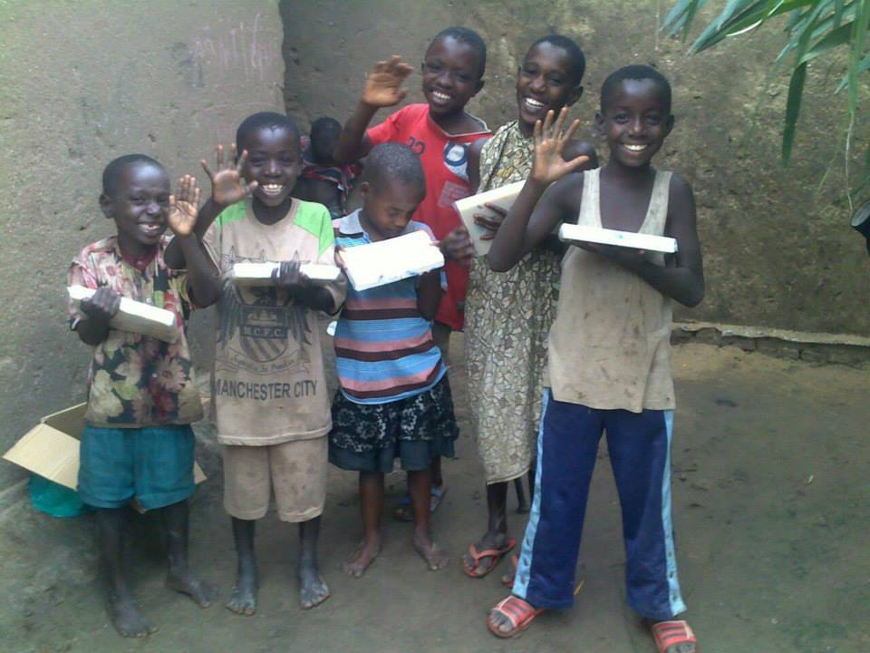 Children Receive Soap - Wings of Hope for Africa - these children depend on donations from sponsors just like you.