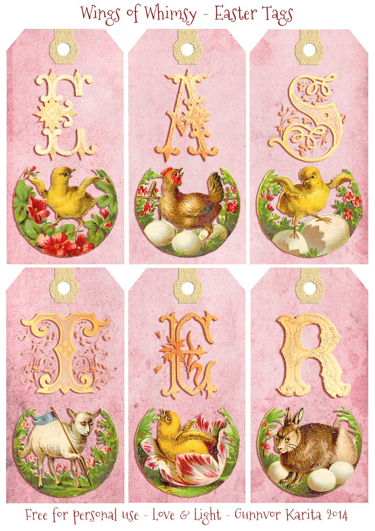 Vintage Easter Tags Free Printables Wings Of Whimsy