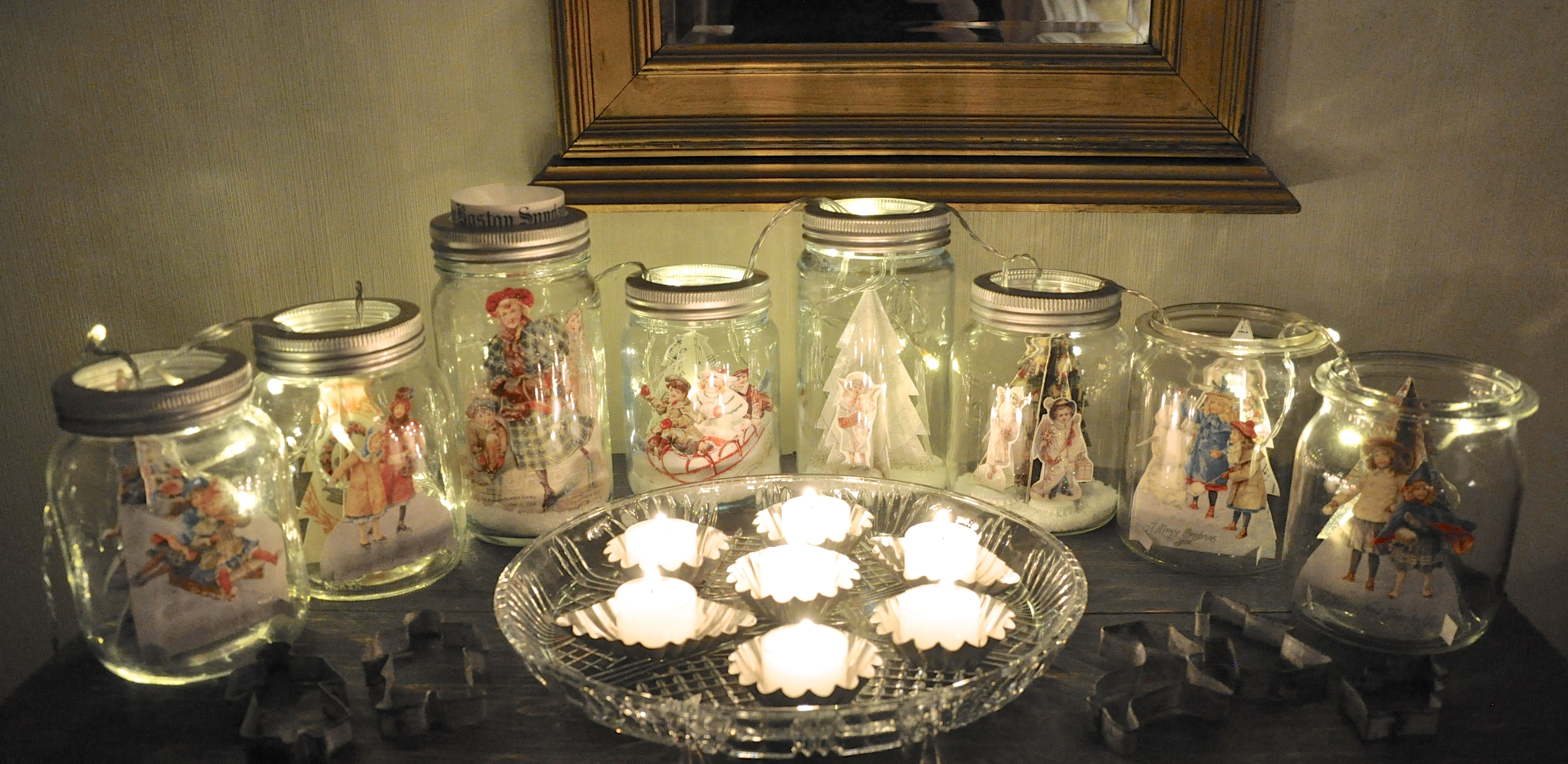 Vintage Snow Globes With Cherubs Wings Of Whimsy