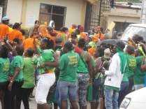 PNP supporters waved on by JLP