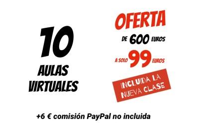 COBRO PAYPAL 0 TARJETA 10 AULAS VIRTUAL XAVIER GARCIA 99€ + 6€ COMISIÓN