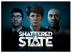 The official logo and cover art of the Shattered State VR game from Supermassive Games, as included in the article by game music composer Winifred Phillips.