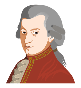 An image of Mozart, accompanying a discussion of classical music techniques as they apply to game music -- from the article by Winifred Phillips (video game composer).