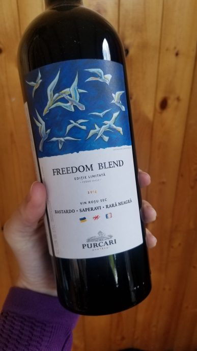 Bottle of Moldovan Purcari Freedom Blend