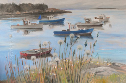 Lobster Boats, Stonington by Wini Smart