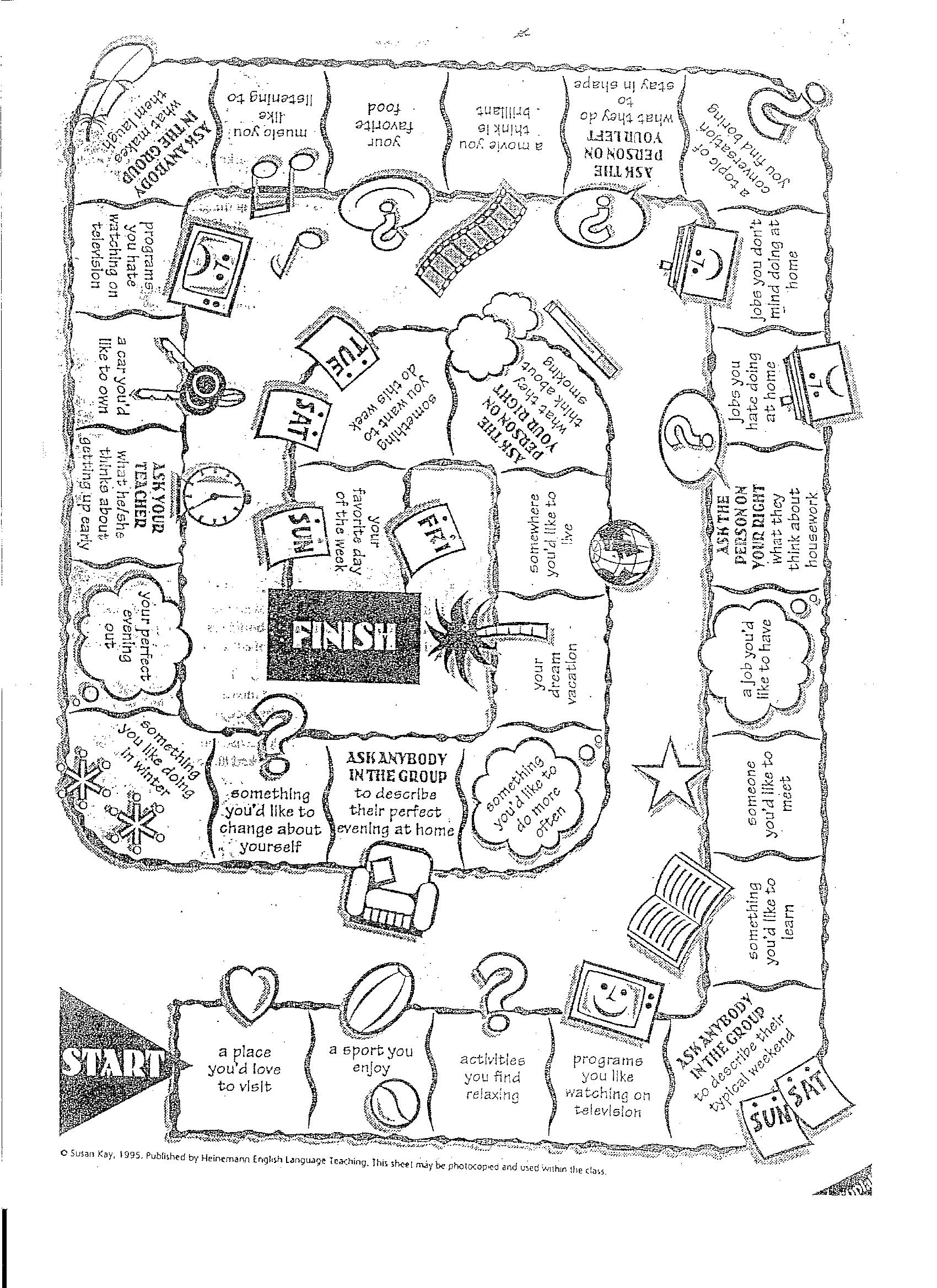 Esl Communicative Board Games Lesson Plan Materials For