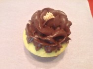 Butter Cupcake with Whipped Chocolate Buttercream Rose