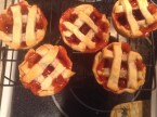 """Cherry Pie """"Cupcake"""" with or without Vanilla Whipped Cream Frosting"""