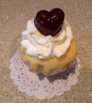 root Bear Float Cupcake with Homemade Chocolate Heart