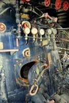 Interior de una de las locomotoras