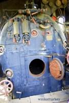 Interior de una de las locomotoras.