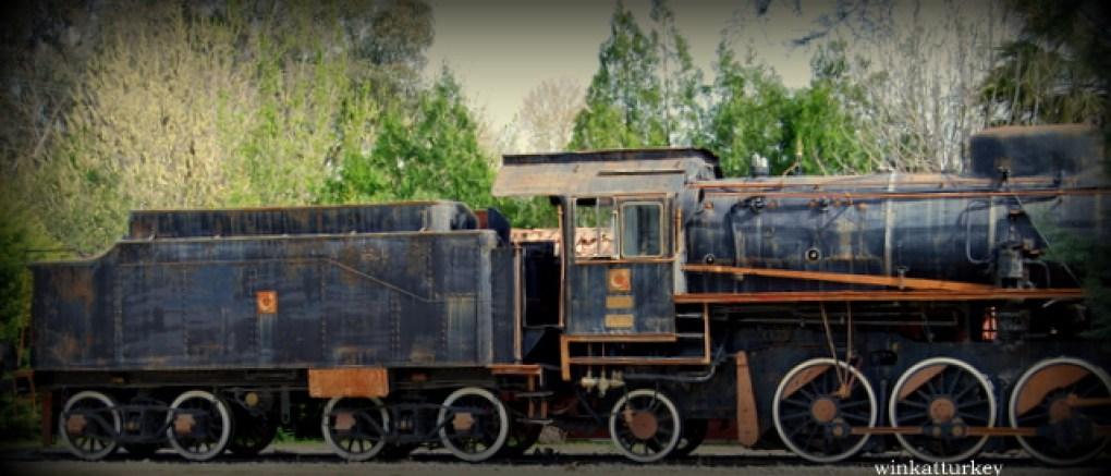 Uno de los trenes expuestos en el museo