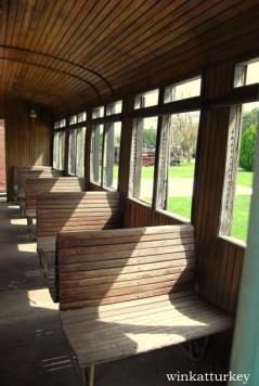Interior de un vagón de tren
