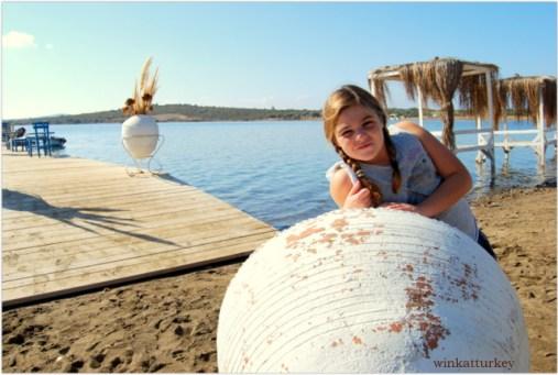 Detalles de la decoración de la playa