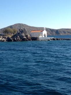 Cerca de la costa griega