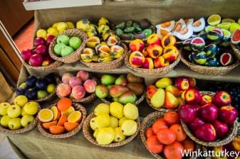 Jabones con forma de fruta. Edirne