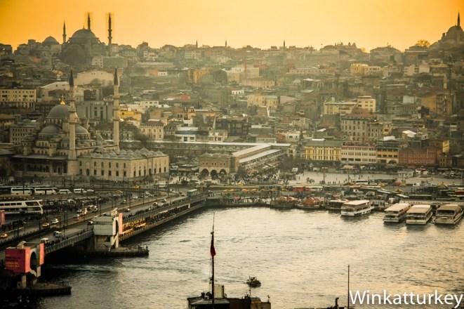 Puente Galata desde Beyoglu
