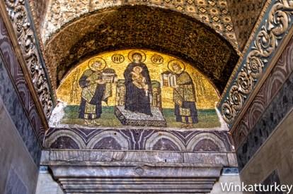 Mosaico en la entrada de Santa Sofia