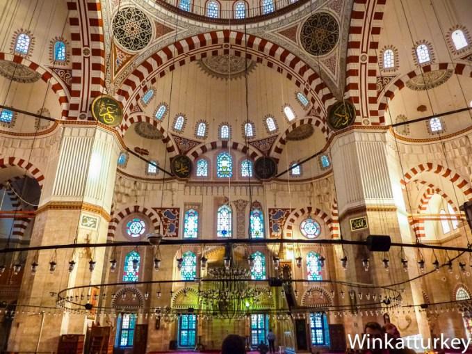 Interior de la mezquita de Sehzade
