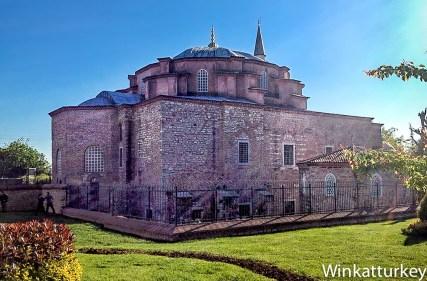 Exterior de la iglesia de San Sergio y San Baco