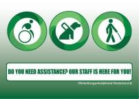 green small assistance sign
