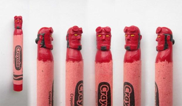 Wax Nostalgic Carved Crayons by HoangTran - Hellboy