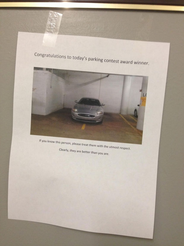 22 Bad Parking Jobs - Congratulations to today's parking contest award winner.