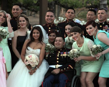 California Town Gives Triple Amputee Marine a Dream Wedding