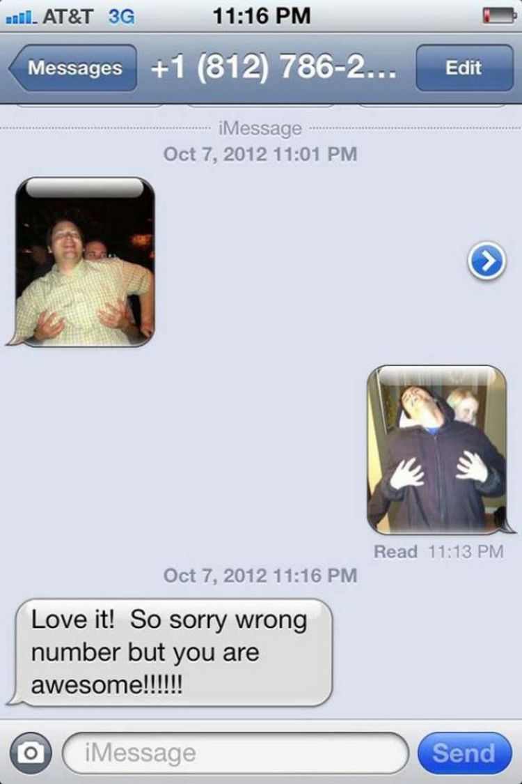16 Funny Wrong Number Texts - Touché.