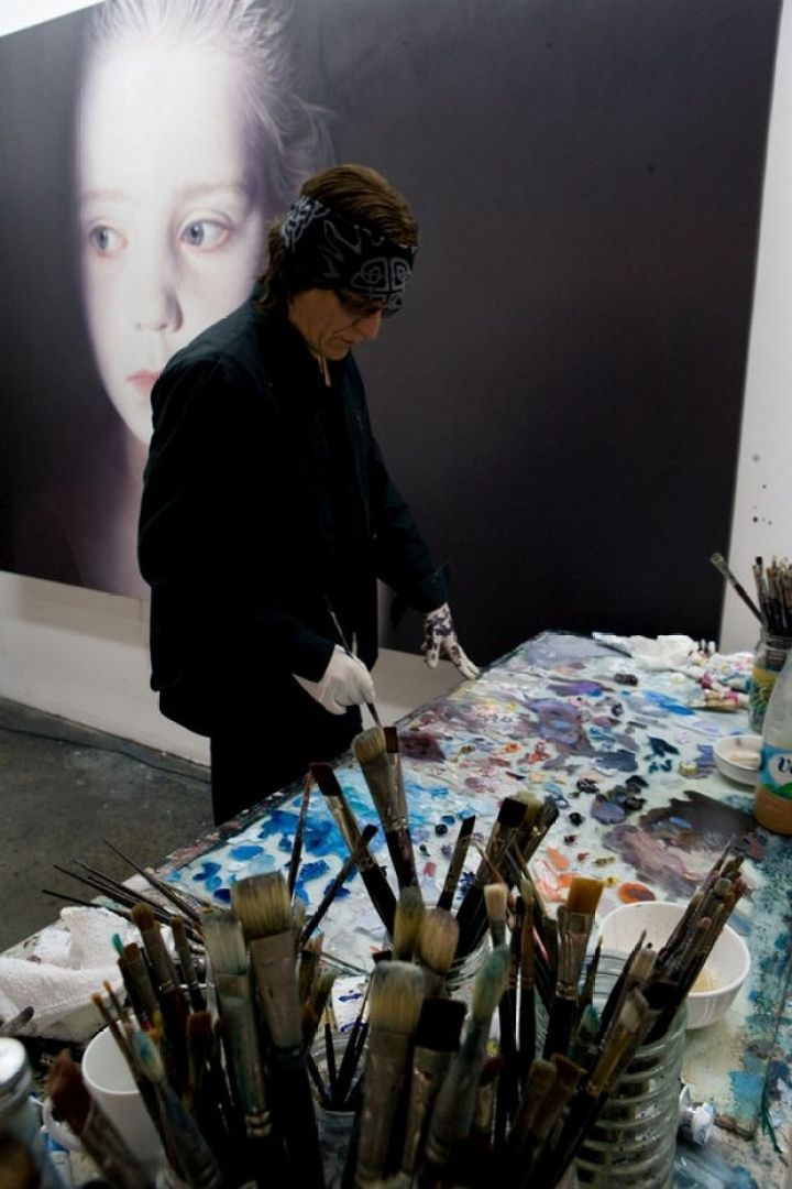 25 Amazingly Realistic Art Paintings - Gottfried Helnwein - Oil and acrylic on canvas.