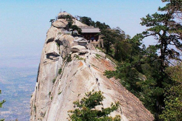 At the Southern peak, people have reached their destination, a teahouse.