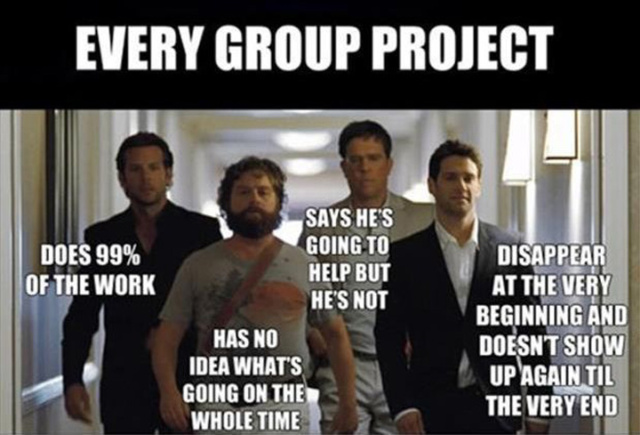 12 Unforgettable Moments from School You'll Remember Forever - Having a group project and doing most of the work.