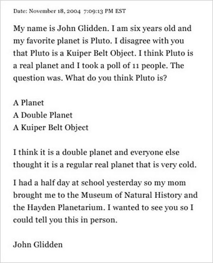 19 Clever Kids - I think this kid knows more about Pluto than his teacher.