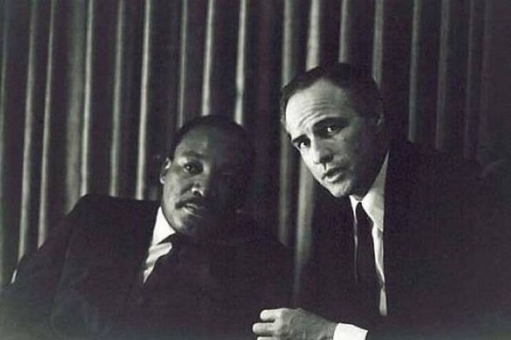 Martin Luther King Jr, and Marlon Brando.