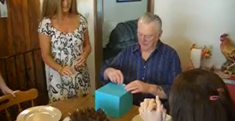 Grandpa Gets a Puppy for His Birthday Present and Gets Emotional.