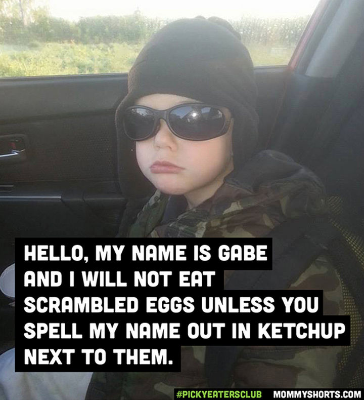 Picky Eaters Club - Hello, my name is Gabe...