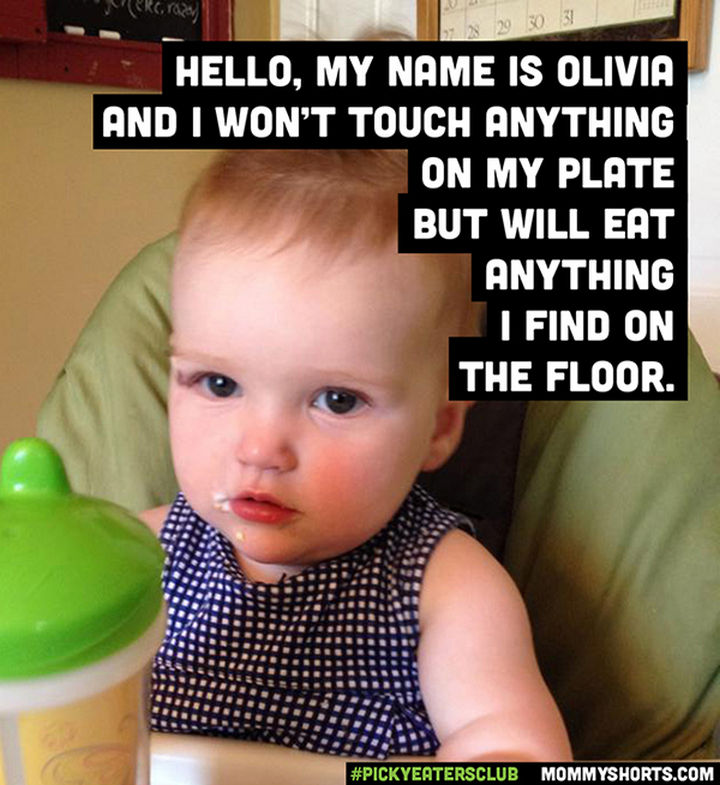 Picky Eaters Club - Hello, my name is Olivia...