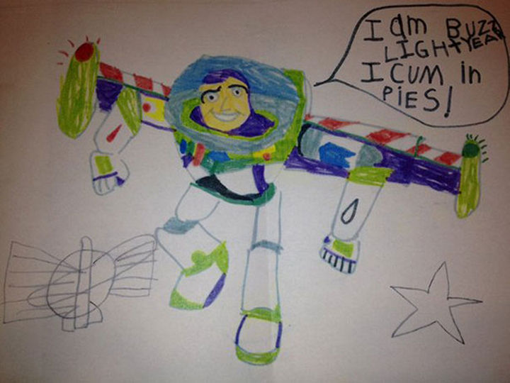"""18 Funny Spelling Mistakes - """"I am Buzz Lightyear, I COME in peace?"""""""