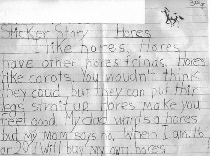 """18 Funny Spelling Mistakes - """"HORSES?"""""""