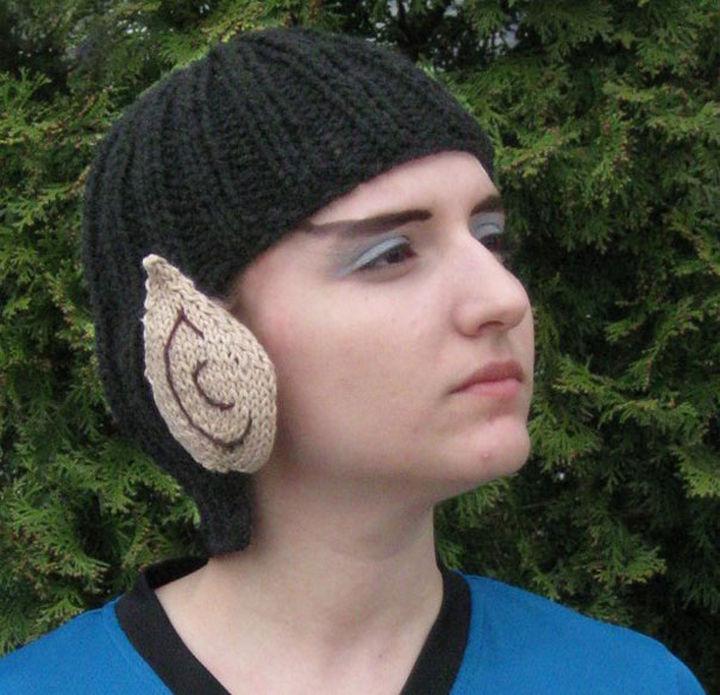 21 Crocheted Winter Hats - Knit Vulcan Hat.