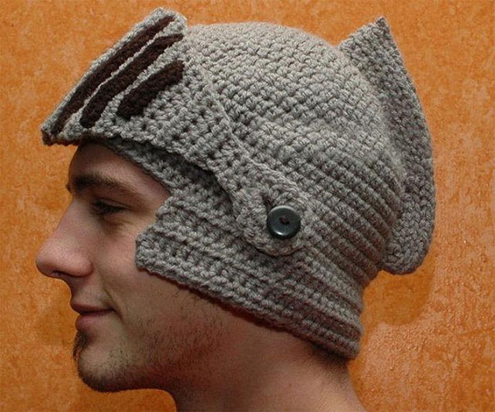21 Crocheted Winter Hats - Sir Knight Helmet Cap