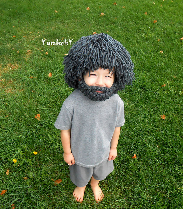 21 Crocheted Winter Hats - Mad Scientist Hat.